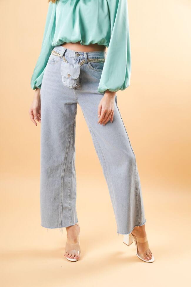 Παντελόνι Jean με Αλυσίδα