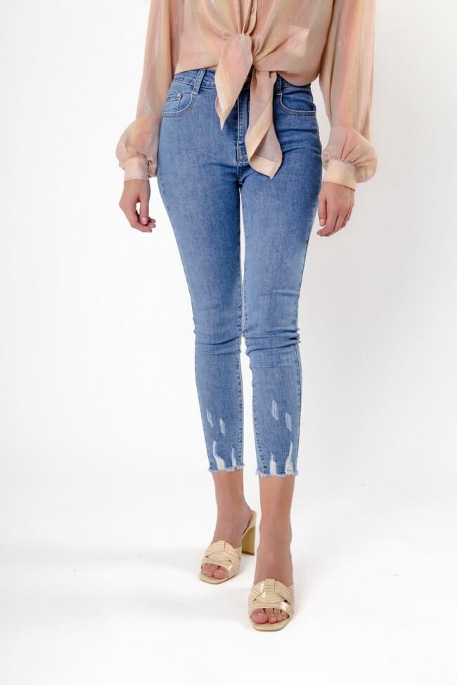 Παντελόνι Jean με Ξέφτια