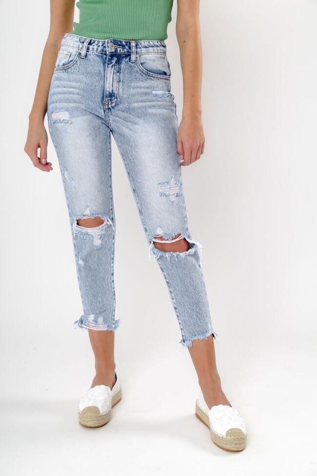 Παντελόνι Jean με Σκισίματα