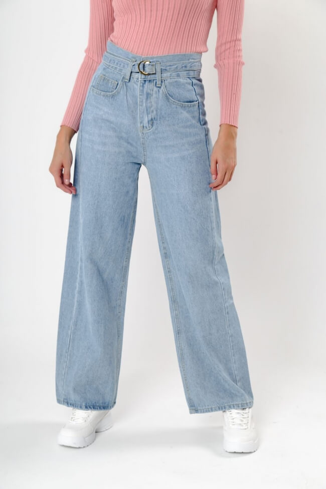 Παντελόνι Jean με Ζώνη