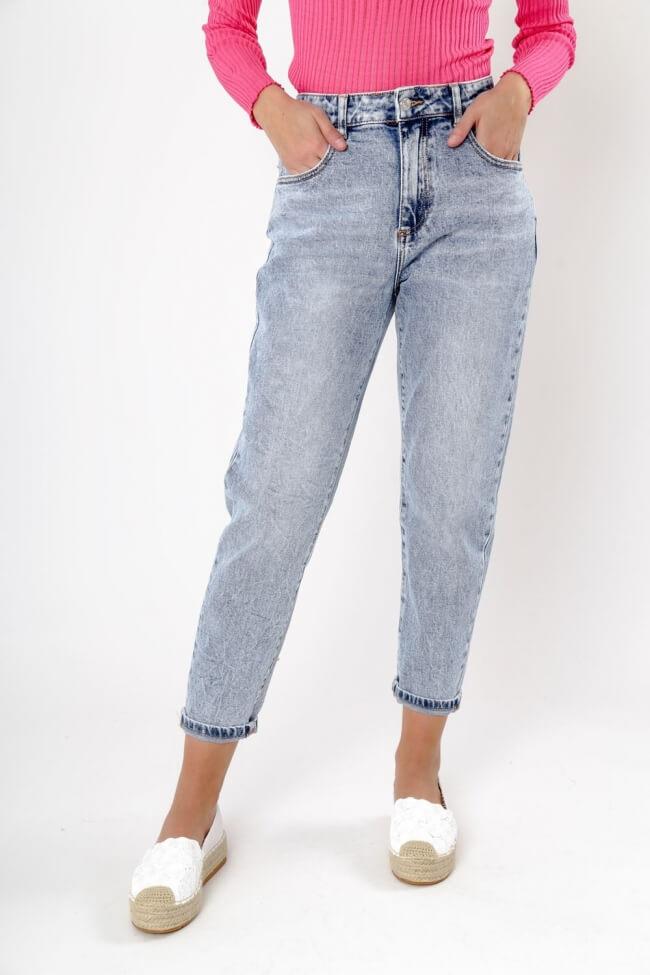 Παντελόνι Jean Ψηλόμεσο Plus Size