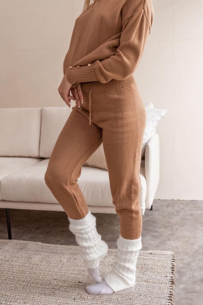 Παντελόνι Πλεκτό με Λάστιχο