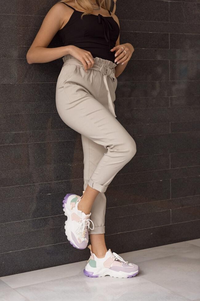 Παντελόνι Υφασμάτινο Ελαστικό  με Ζωνάκι