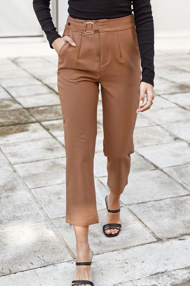 Παντελόνι Zip Culotte Highwaisted με Τόκα