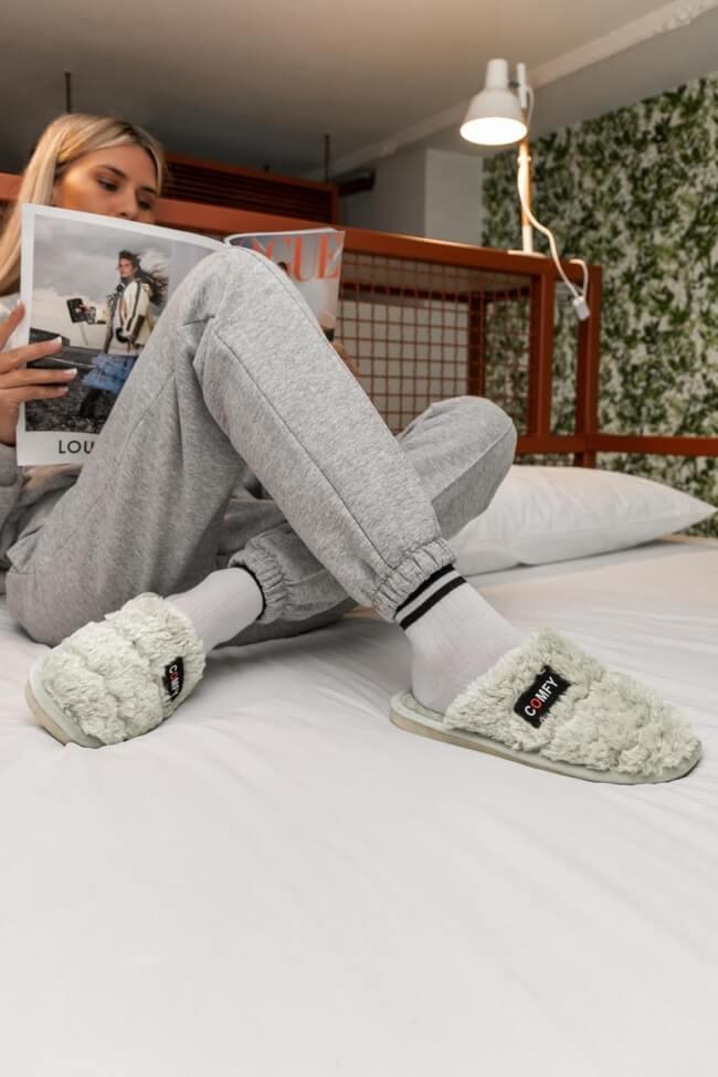 Παντόφλες Γουνινές Comfy