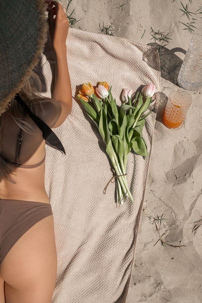 Πετσέτα Fleece Μονόχρωμη