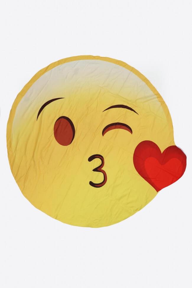 Πετσέτα Θαλάσσης Kiss Emoji