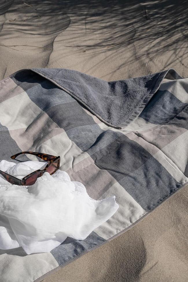 Πετσέτα Βαμβακερή Καρό Διπλής Όψης