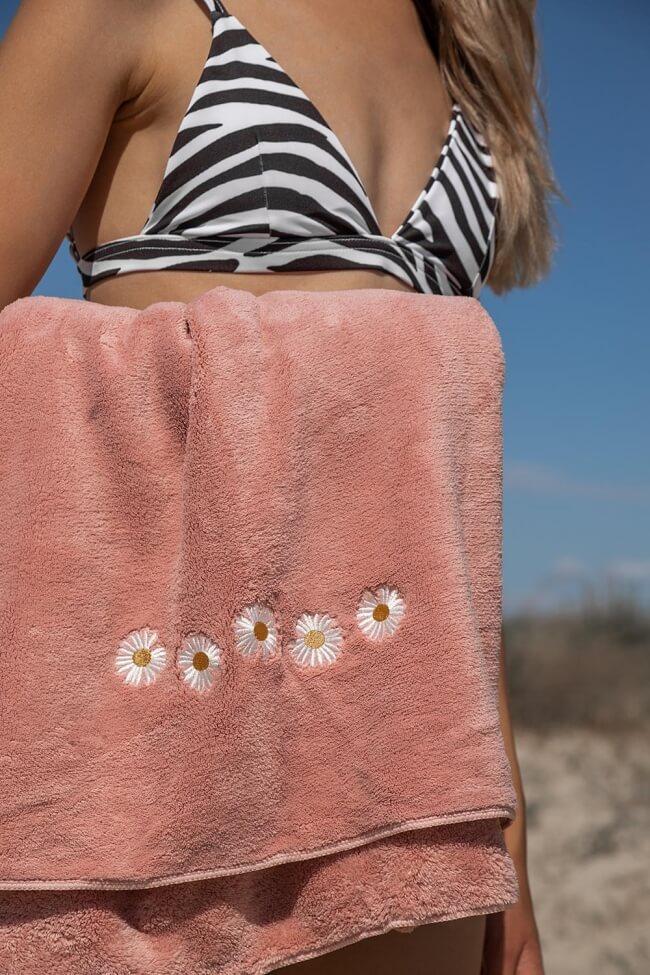 Πετσέτα Βαμβακερή με Λουλούδια