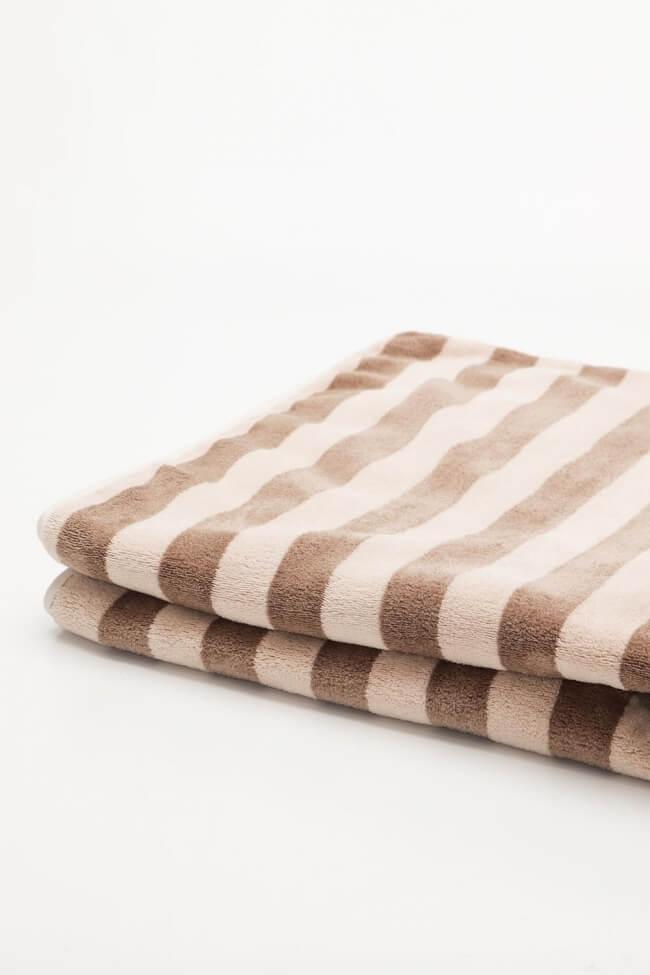 Πετσέτα Βαμβακερή Ριγέ