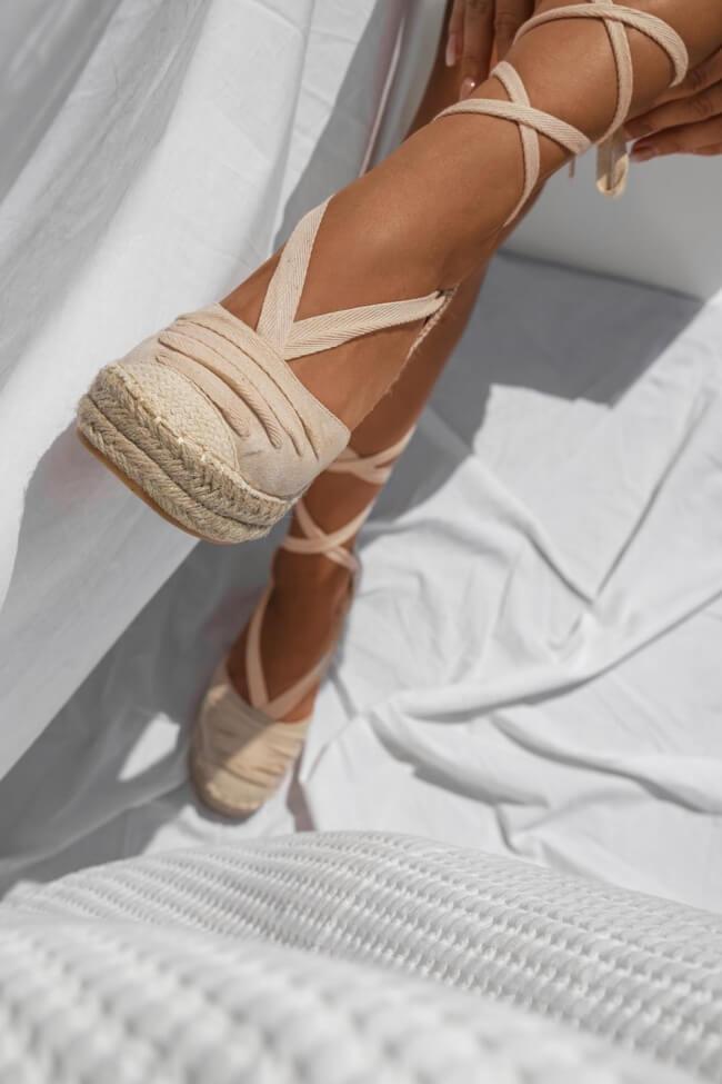 Πλατφόρμες Εσπαντρίγιες Lace Up