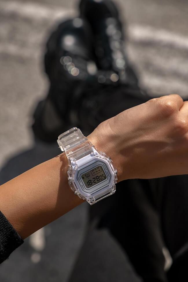 Ρολόι Ηλεκτρονικό με Διαφανή Λουράκι