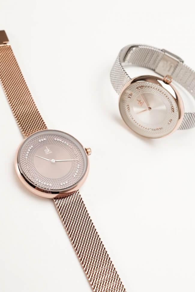 Ρολόι Μεταλλικό Χειρός με Strass