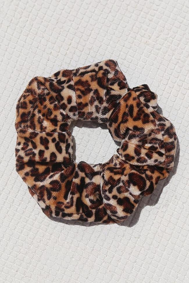 Scrunchies Velvet Animal Print