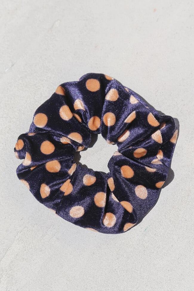 Scrunchies Velvet Πουά