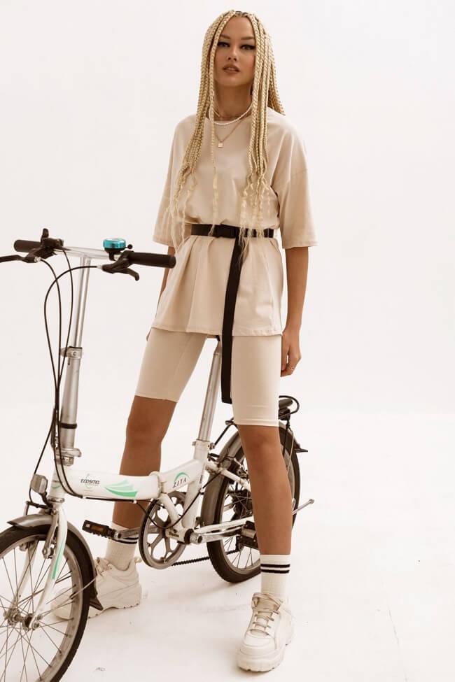 Σετ Ρούχων Κολάν Biker με T-Shirt και Ζωνάκι