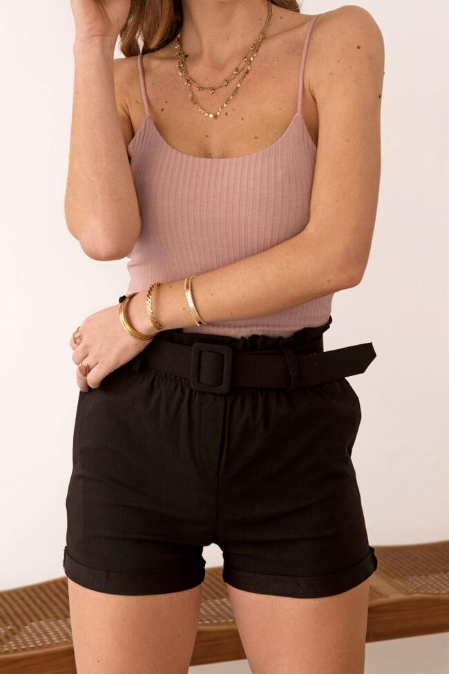 Shorts Ελαστικό με Ρεβέρ