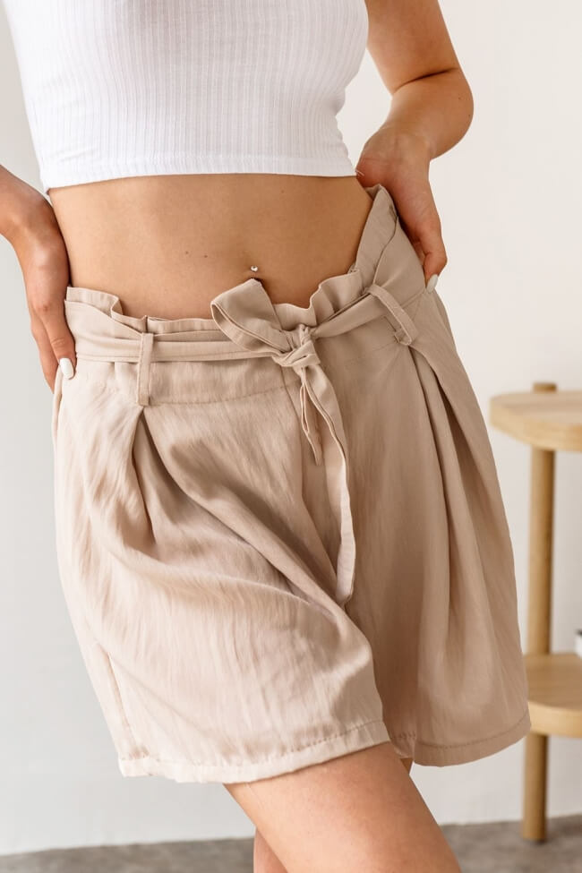 Shorts Λινό Ψηλόμεσο