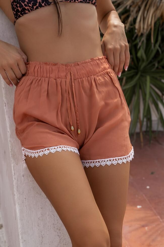 Shorts με Σχέδιο Κοφτό στο Ρεβέρ