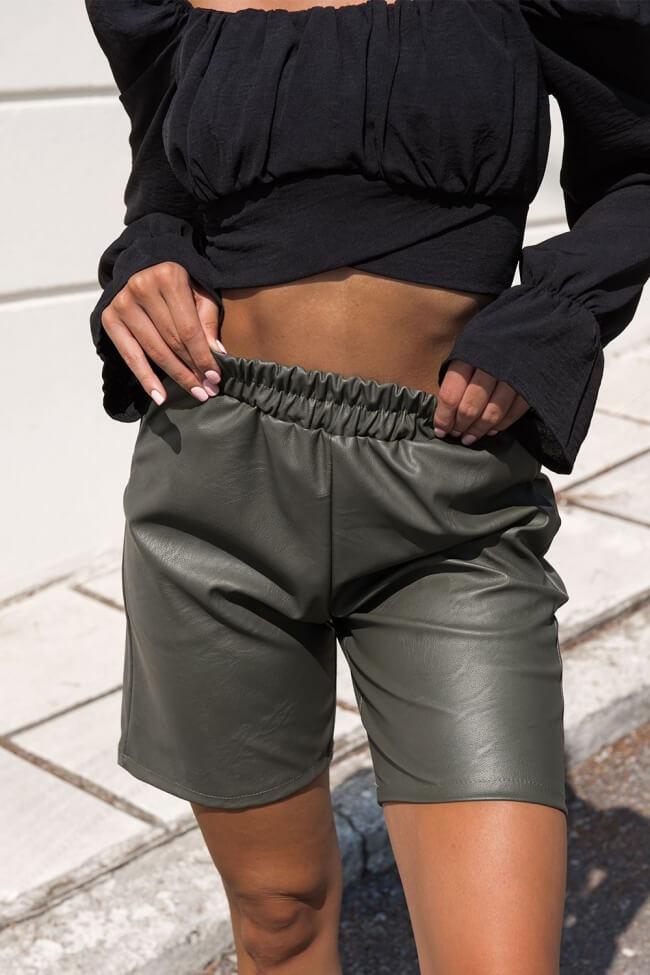 Shorts Ψηλόμεσο Δερματίνη