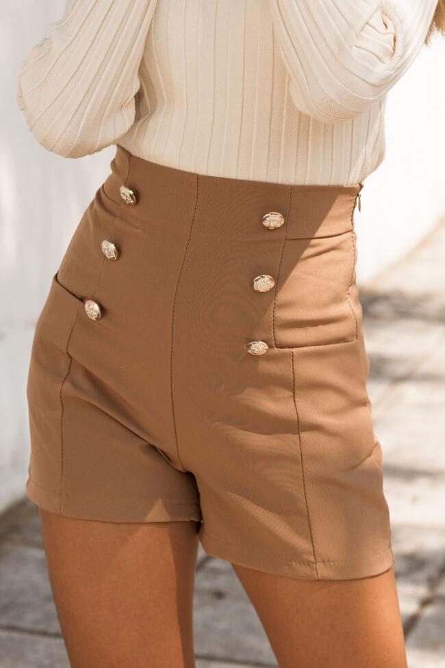 Shorts Ψηλόμεσο με Τσέπες