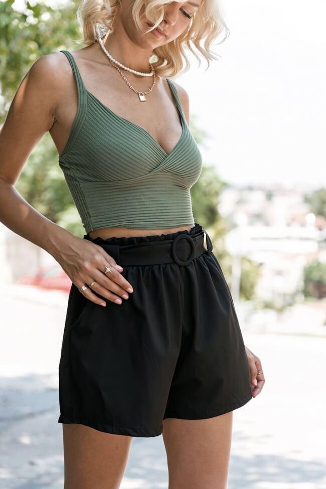 Shorts Υφασμάτινο με Ζωνάκι