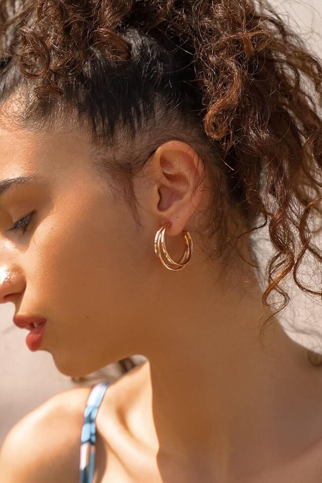 Σκουλαρίκια Τριπλοί Κρίκοι