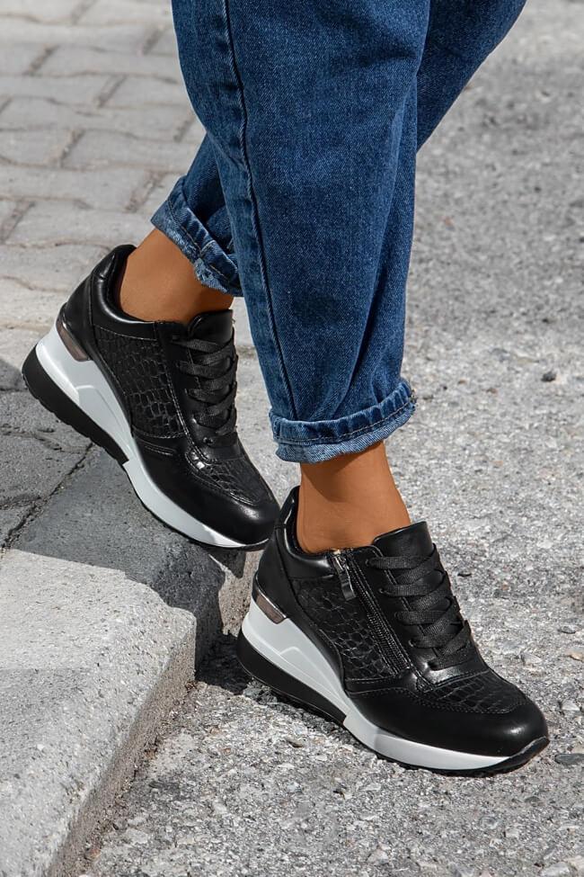Sneakers με Πλατφόρμα & Διακοσμητικό Φερμουάρ
