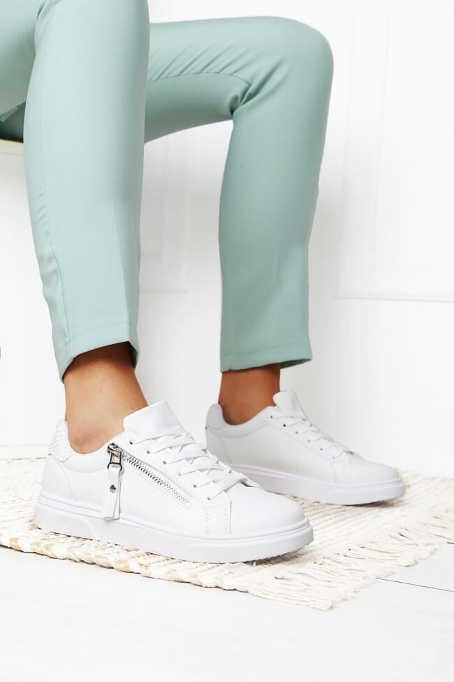 Sneakers Basic με Διακοσμητικό Φερμουάρ