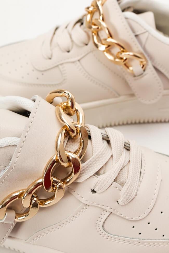 Sneakers Δίσολα με Διακοσμητική Αλυσόδα