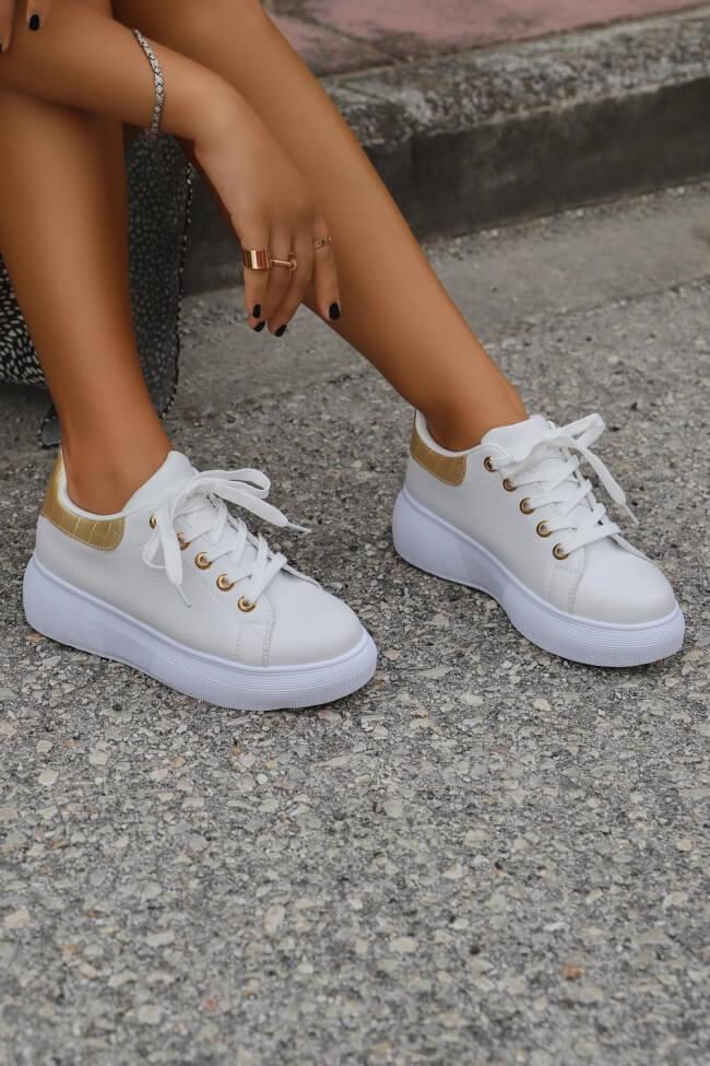 Sneakers Δίσολα με Λεπτομέρεια Croco