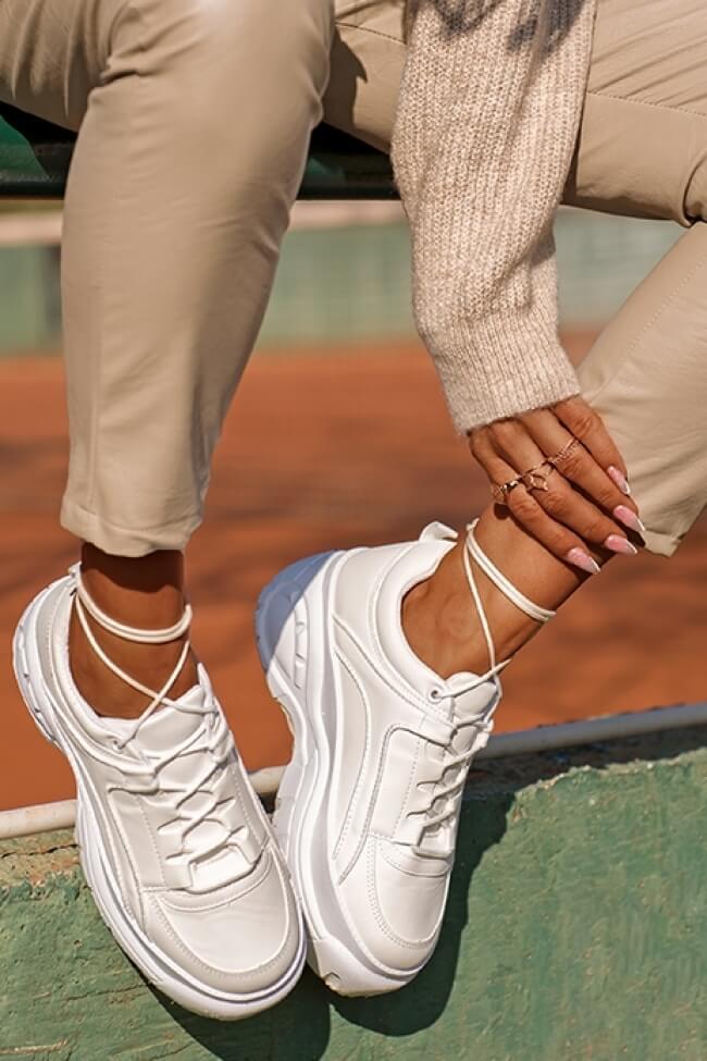 Sneakers Δίσολα Μονόχρωμα