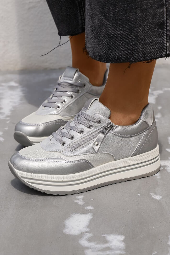 Sneakers Flatform με Φερμουάρ
