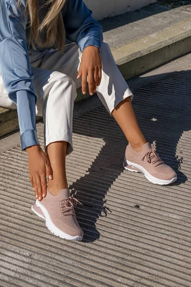 Sneakers Κάλτσα - Ροζ