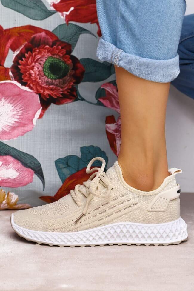 Sneakers Κάλτσα με Διακοσμητικά Κορδόνια
