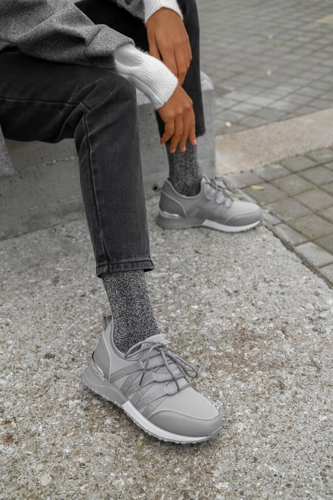 Sneakers Κάλτσα με Μετταλική λεπτομέρεια