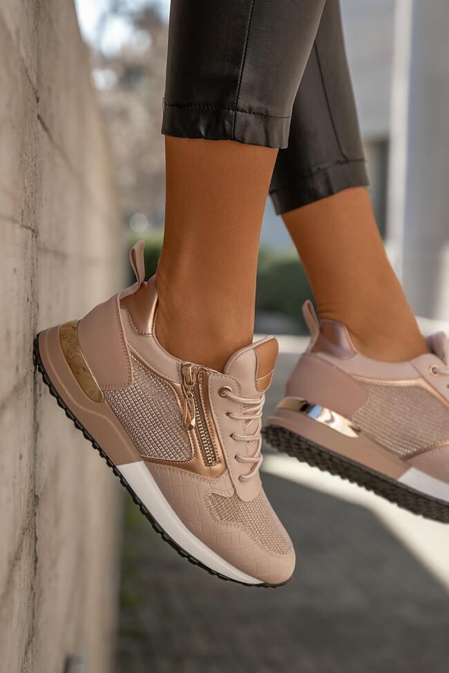 Sneakers με Διακοσμητικό Φερμουάρ & Glitter