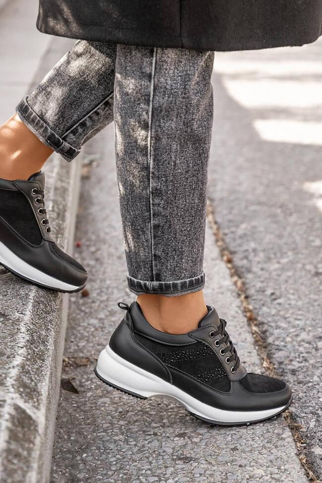 Sneakers με Glitter & Strass