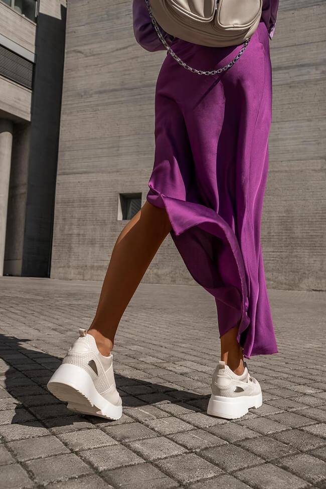 Sneakers με Λάστιχο σε Συνδυασμό Χρωμάτων