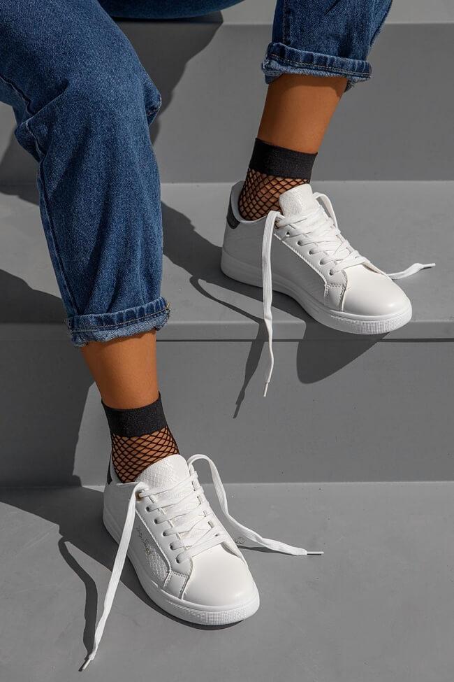 Sneakers με Λεπτομέρεια Snake Print