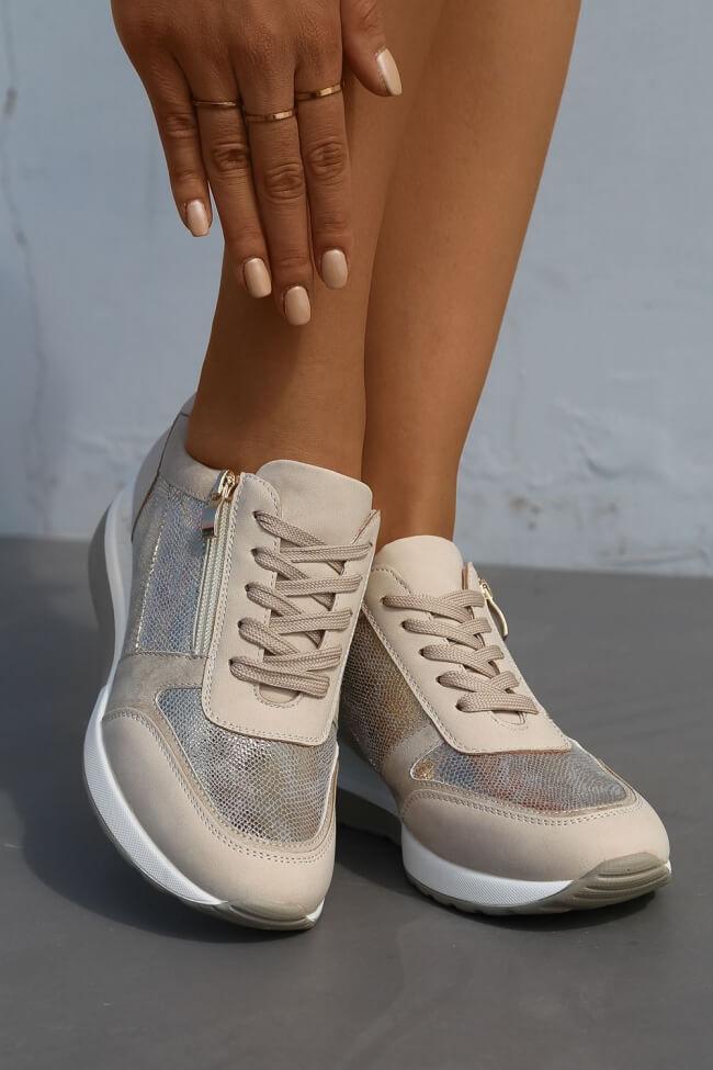 Sneakers με Πλατφόρμα & Φερμουάρ