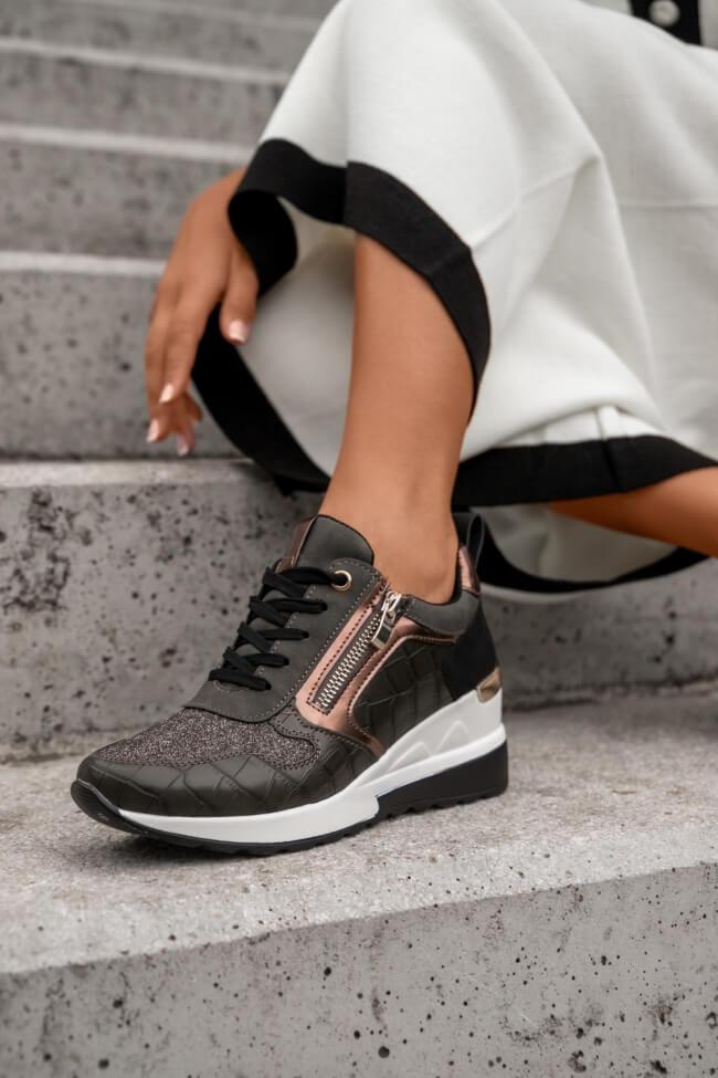 Sneakers με Πλατφόρμα & Glitter