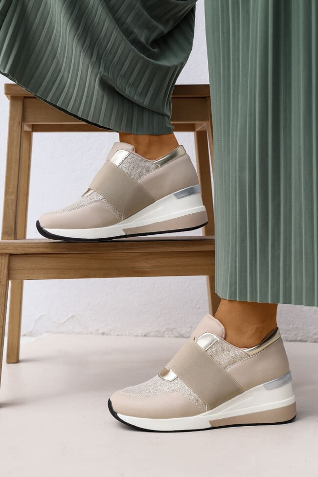 Sneakers με Πλατφόρμα & Λάστιχο