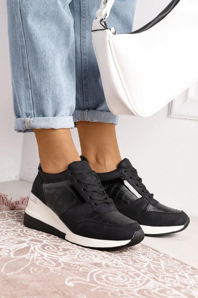 Sneakers με Πλατφόρμα & Λεπτομέρεια Croco