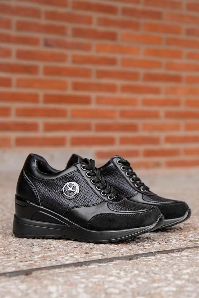 LUIGI DESIGN - Sneakers με Πλατφόρμα σε Συνδιασμό Υλικών