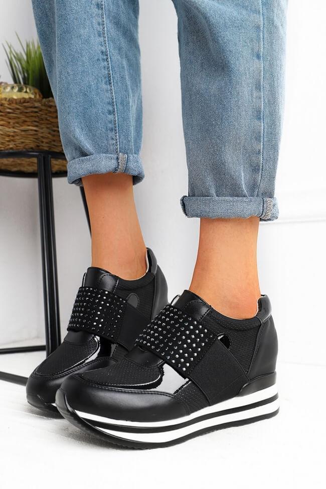 Sneakers με Πλατφόρμα & Strass