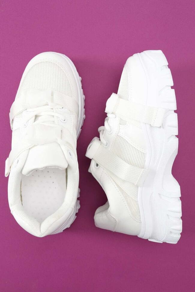 Sneakers Μονόχρωμα με Clips
