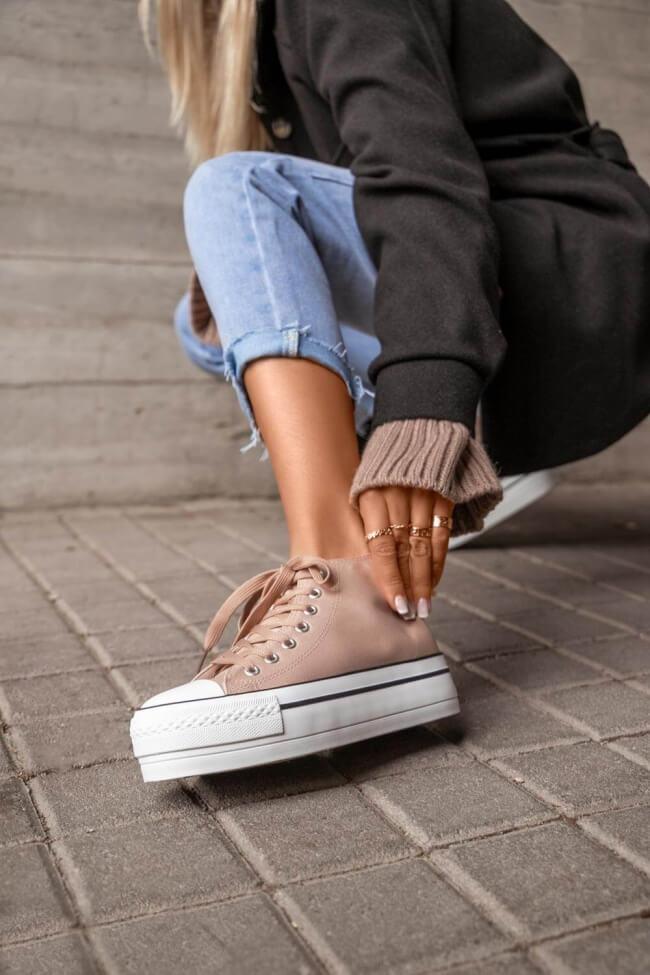 Sneakers Μποτάκια Δίσολα
