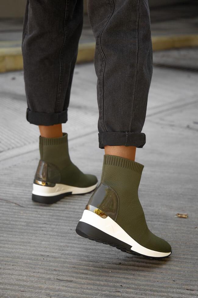 Sneakers Μποτάκια Κάλτσα