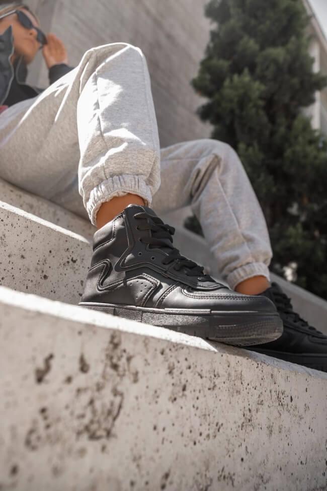 Sneakers Μποτάκια Μονόχρωμα